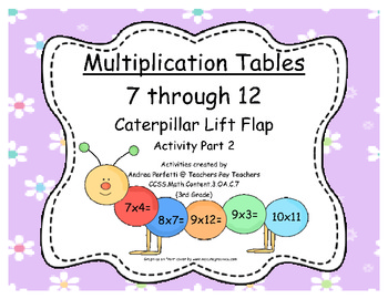 Multiplication Tables: 7 Through 12  A Caterpillar Lift Fl