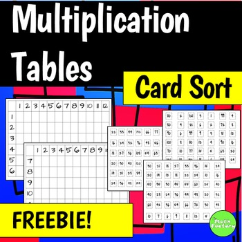 Multiplication Tables Activity FREEBIE