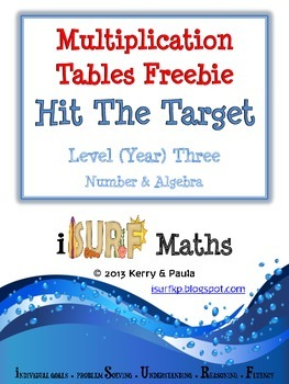 Multiplication Tables Freebie