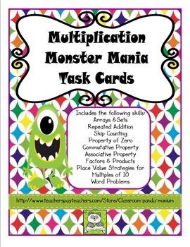 Multiplication Task Cards (CC Aligned)