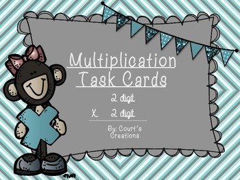 Multiplication Task Cards- 2 Digit X 2 Digit