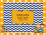Multiplication Task Cards - 2 X 2 with Answer Key