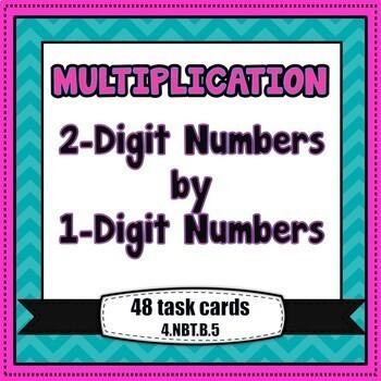 Multiplication Task Cards - 2-digit times 1-digit