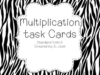 Multiplication Task Cards-4th Grade