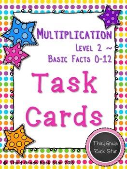 Multiplication Task Cards {Level 2 ~ 1-12 Basic Facts}