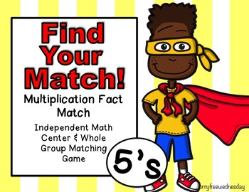 Multiplication Task Cards (Match Game) 5's
