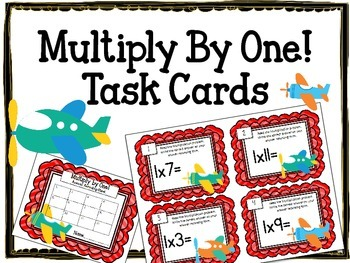 Multiplication Task Cards. Multiply by One.Times Tables. A