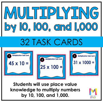 Multiplication Task Cards: Using Place Value to Multiply b