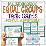 Multiplication Task Cards for Equal Groups { Common Core 3.OA.1 }