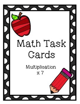Multiplication Task Cards x7