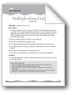 Multiplication (Ten-Minute Activities)