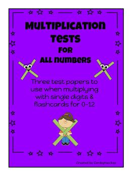 Multiplication Tests & Flashcards