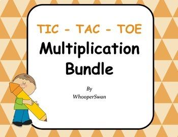 Multiplication Tic-Tac-Toe Bundle
