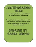 Multiplication Tiles- Array Center for Guided Math