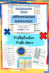 Multiplication - Time Tables - Differentiated Instruction