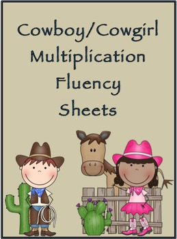 Multiplication Timed Math Drills 100 Problems (Cowboy/Cowg
