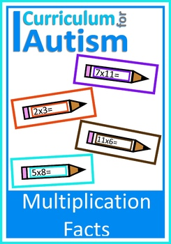 Multiplication Times Tables Autism Math Write & Wipe Cards