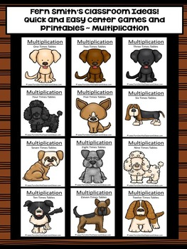 Multiplication Puppy Twelve Pack of Quick and Easy Centers