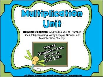 Multiplication Unit: Activities, Workshheets and Formative