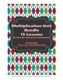 Multiplication Unit Bundle TEKS 4.4C -Interactive Notebook