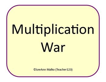 Multiplication War - Fun Game