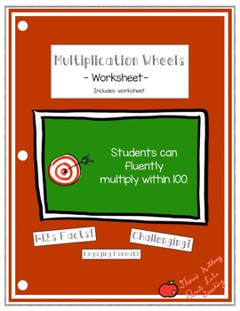 Multiplication Wheel Worksheet