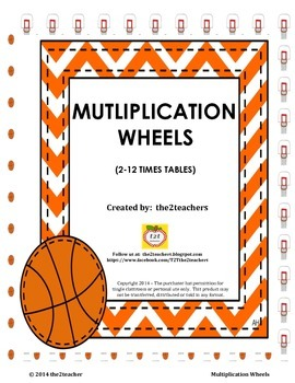 Multiplication Wheels:  2-12 Times Table Review