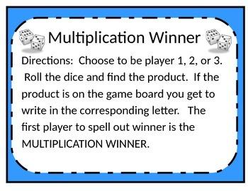 Multiplication Winner
