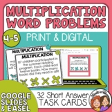 Word Problem Task Cards: Multiplication