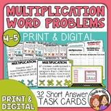 Mutliplication Word Problem Task Cards | Multiplication St