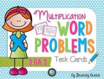 Multiplication Word Problem Task Cards: 3.OA.3