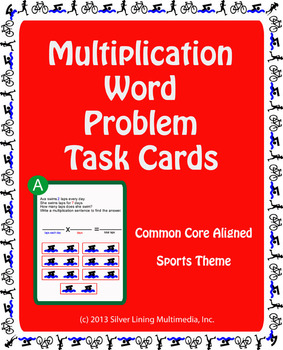 Multiplication Word Problems - Common Core Aligned