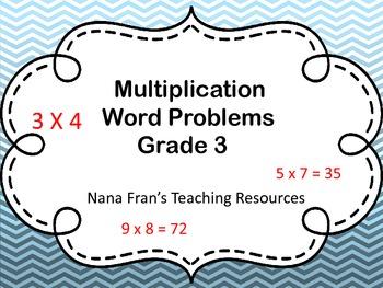 Multiplication Word Problems Grade 3