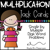 Multiplication Task Cards: Single by Multiple Digit Word Problems