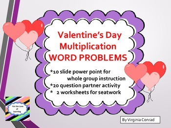 Multiplication Word Problems--Slides, Activity, and Worksh