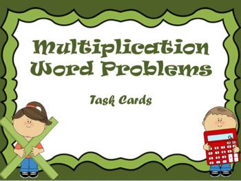 Multiplication Word Problems - Task Cards for Grade 3 & 4