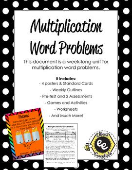 Multiplication Word Problems Unit