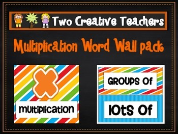 Multiplication Word Wall and Worded Questions Pack
