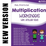 Multiplication  Worksheets with Answer Keys