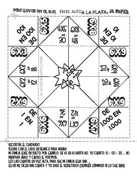 Multiplication X6 - Spanish