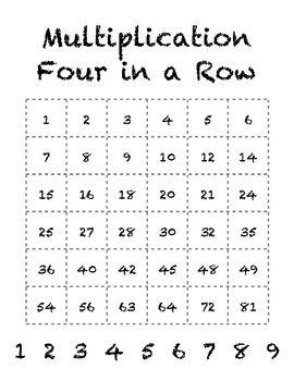 Multiplication and Addition Four in a Row