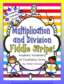 Operations in Alegebraic Thinking Academic Vocabulary Fidd