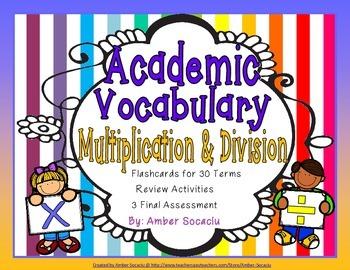 Operations and Algebraic Thinking Academic Vocabulary Pack