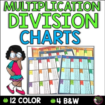 Multiplication and Division Charts (4 total-2 in color and