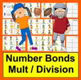 Multiplication and Division Fact Families-78 Sports Themed