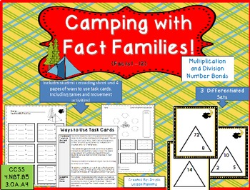 Multiplication and Division Fact Families (Number Bonds)