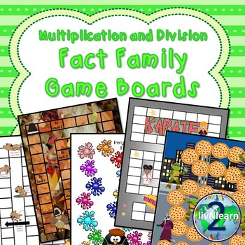 Multiplication and Division Fact Family Board Games (SET 5)