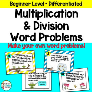 Multiplication & Division Facts One Step Word Problems