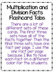 Multiplication and Division Facts - Flashcard Tabs
