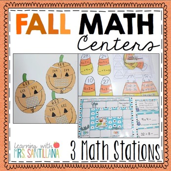 FALL Multiplication and Division Math Games